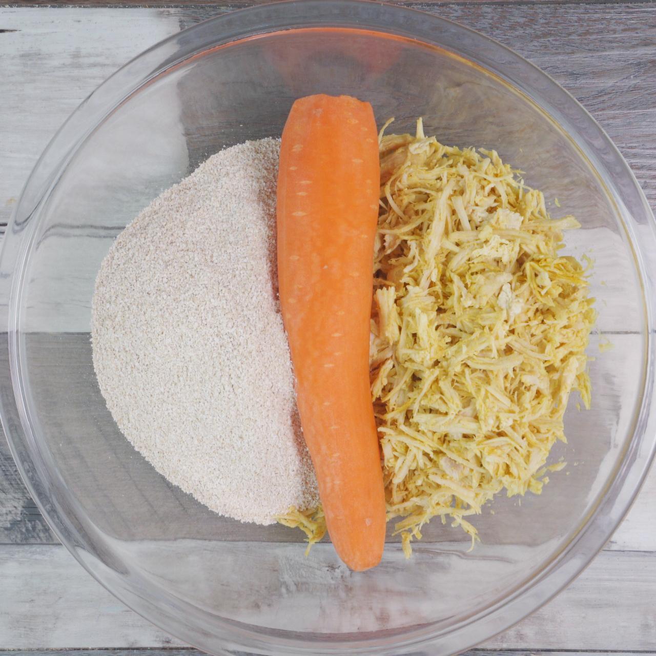 Bolinho Frito de Cenoura, Frango e Aveia, Prático e Delicioso