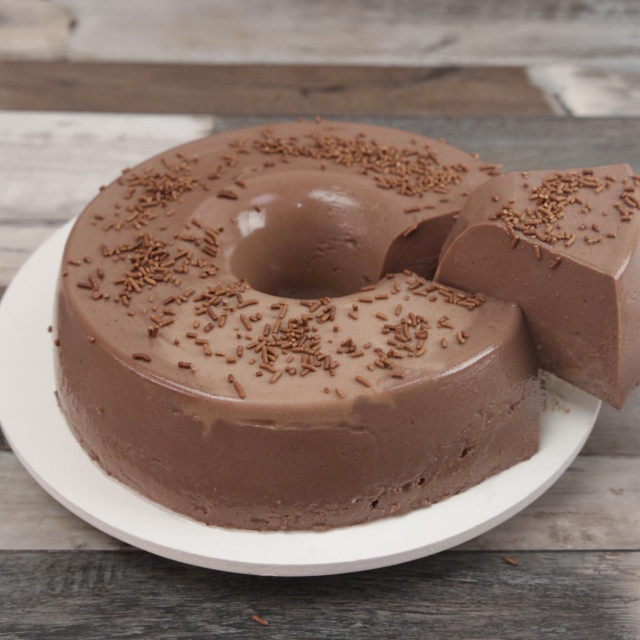 Pudim de Chocolate, Barato, Fácil e Delicioso