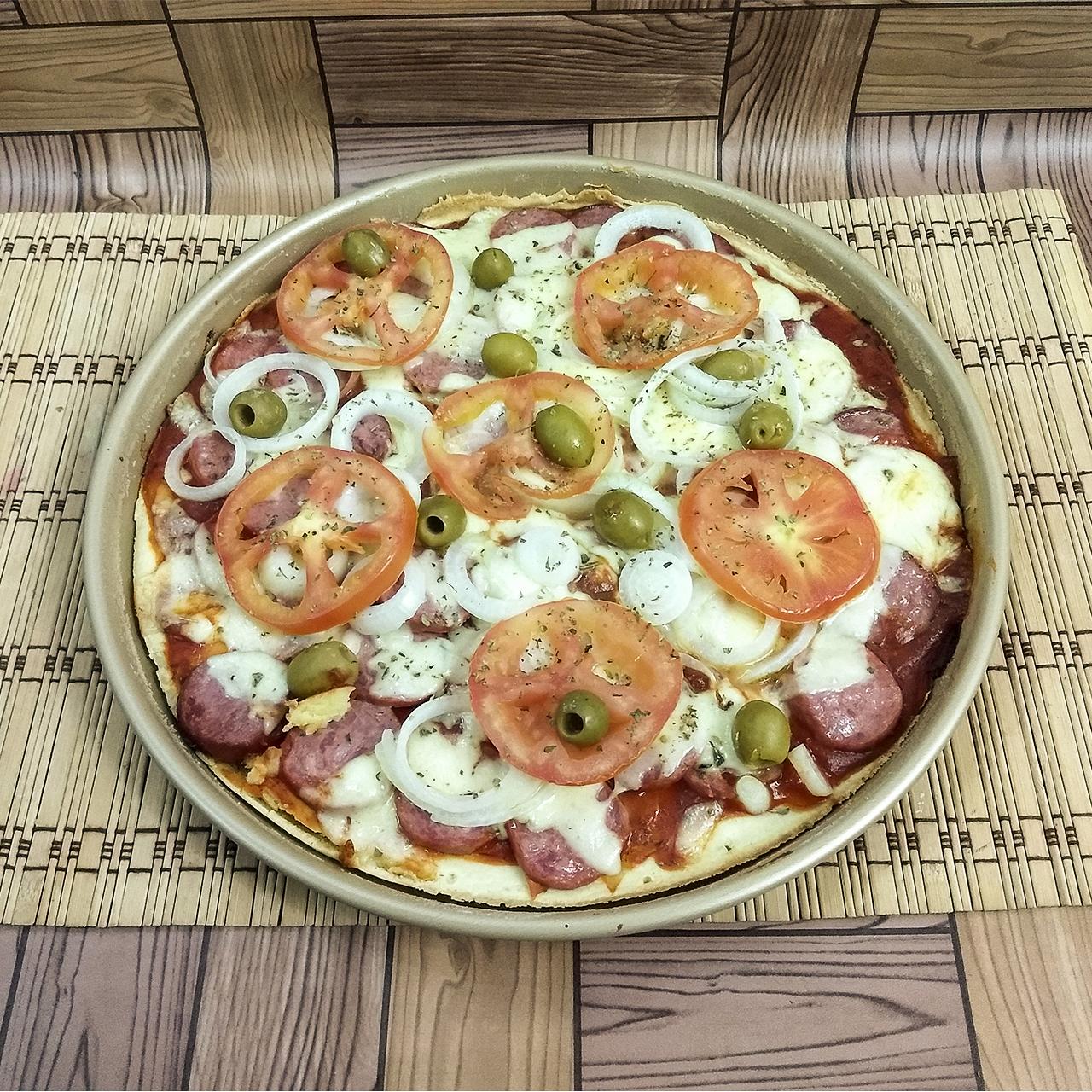 Pizza Caseira de Liquidificador