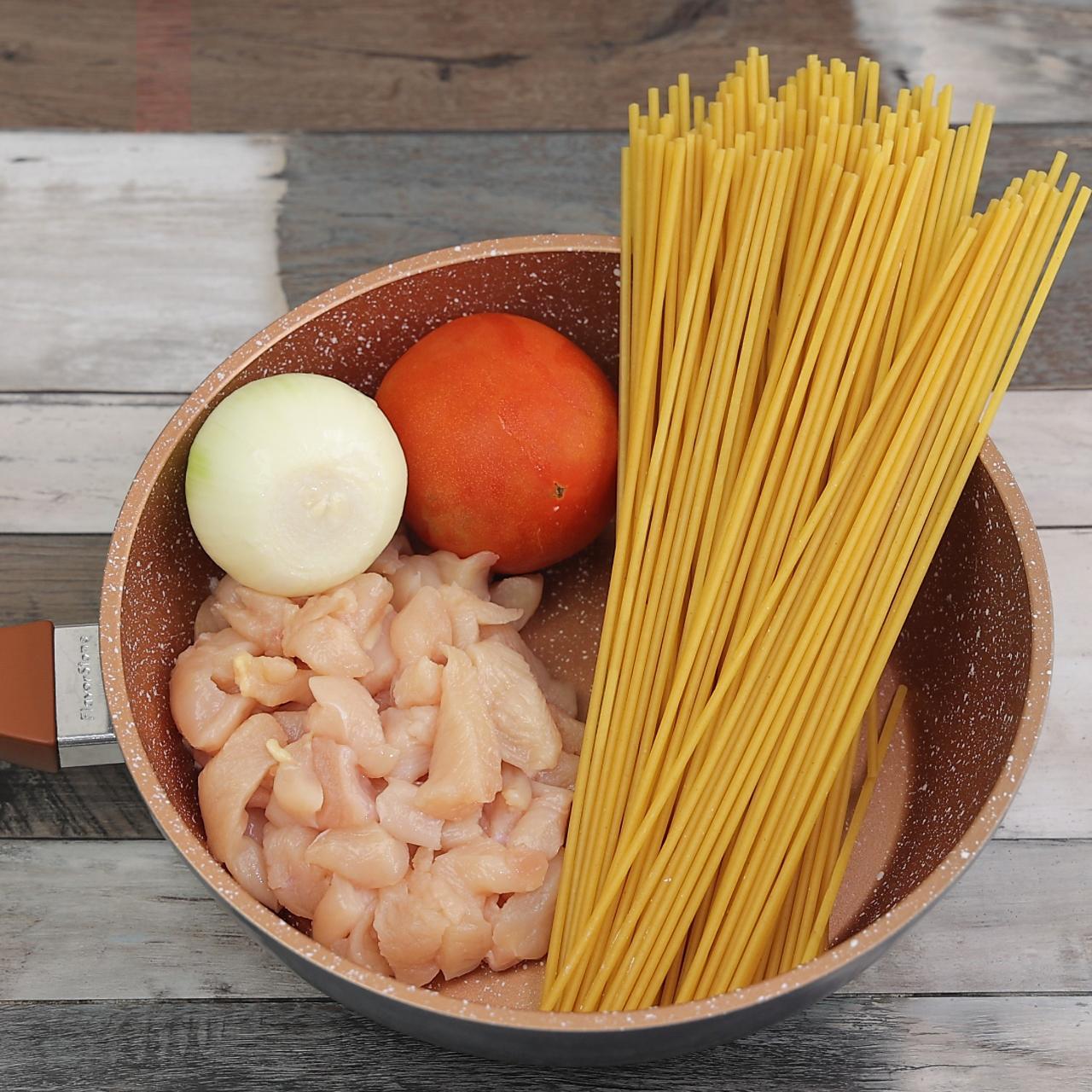 Frango com Macarrão, Cebola e Tomates, Resultado Impressionante