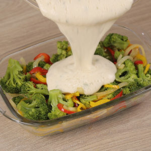 Brócolis ao Molho Branco Gratinado